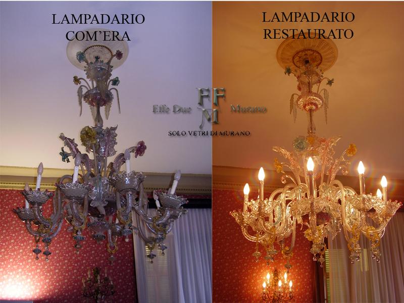 SERVIZIO DI RESTAURO LAMPADARI VENEZIANI, SERVICE RESTORATION OF ...