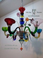 MULTICOLOR CHANDELIER 6 LIGHT