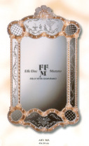 "murano glass photo frame ""kind of SEGUSO"""