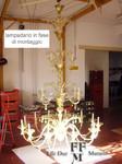 lampadario di murano in lavorazione tutto oro 12+6+3 luci