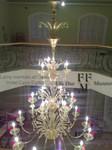 lampadario di murano tutto oro 12+6+3 luci installato