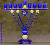 Hannukkah glass murano