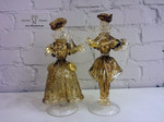 figurine di murano ambra oro