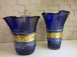 vasi blu oro di murano 2