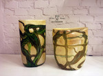 vasi di murano beige argento verde