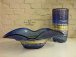 vasi di murano blu oro1