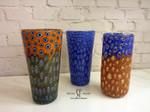 vasi di murano micromurrina colorati