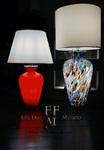 lampada da tavolo in vetro di murano
