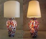 lampada da tavolo con murrine
