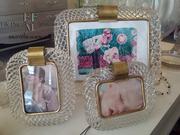 murano glass photo frame